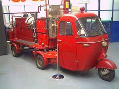 Vespa Ape Fire Engine at the Piaggio Museum -