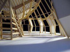 Architecture Design Studio 2 Final 1/4 Scale Model Museum board, bass wood, lots of glue