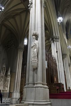 St. Patrick Statue carved by Joseph Sibbel -- St. Patrick's Cathedral, New York City, New York