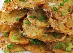 These Crispy Garlic Parmesan Potatoes are completely scrumptious! Potatoes can be made a thousand different ways, but this recipe is definitely in my top five!