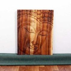 @Overstock - Discover the calming, inspiring effect of Buddha when you display this wall panel in your home. This beautiful wall decor is crafted of monkey pod wood in three joined panels.   http://www.overstock.com/Worldstock-Fair-Trade/Monkey-Pod-Wood-20x30-inch-Tung-Oil-Ushnisha-Buddha-Panel-Thailand/5416123/product.html?CID=214117 $125.99