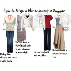 """""""how to style a white jacket in summer"""" by imogenl on Polyvore"""