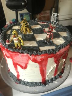Five Nights at Freddy's birthday cake that I made for my son's 12th birthday