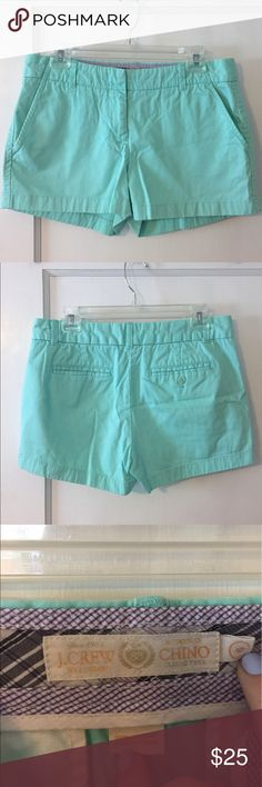 "J. Crew 3"" chino shorts Excellent condition and beautiful aqua color. J. Crew Shorts"