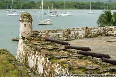 Ruins of Fort Santiago, which Captain Henry Morgan captured when he attacked Portobelo in 1668