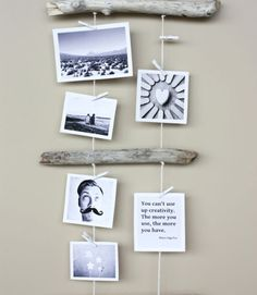 Tell the story of five years of marriage with a crafty photo display including pictures and mementos from your journey as a couple, complemented with gorgeous natural driftwood. (Major bonus if you've collected the wood during a beach trip together!)  Get the tutorial at Morning Creativity »