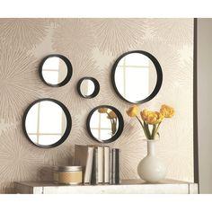 Threshold™ 5 Piece Round Mirror - Black : Target 10.5 25