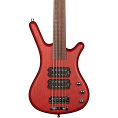 RockBass by Warwick Corvette $$ 5-String Electric Bass Guitar with Wenge Fingerboard Burgundy Red