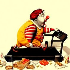 • ARTIST . RON ENGLISH •  ◦ Ronald ◦ // That i we will look if we keep eating Mc donalds...