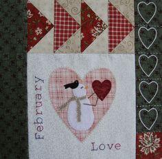 Patchwork Allsorts: Snow Happy Heart Quilt