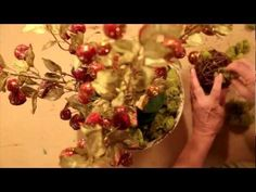 How to make your own #holiday moss & berry centerpiece #video #DIY Directions: http://www.joann.com/static/project/1208/333931P28.pdf