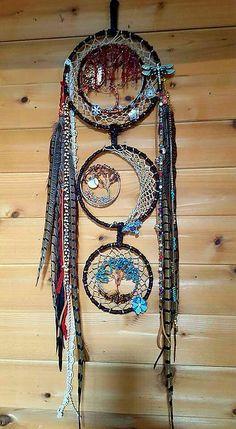 Triple Tree of Life Dream Catcherd