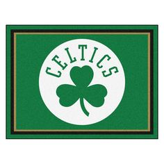 Boston Celtics 8x10 Plush Area Rug