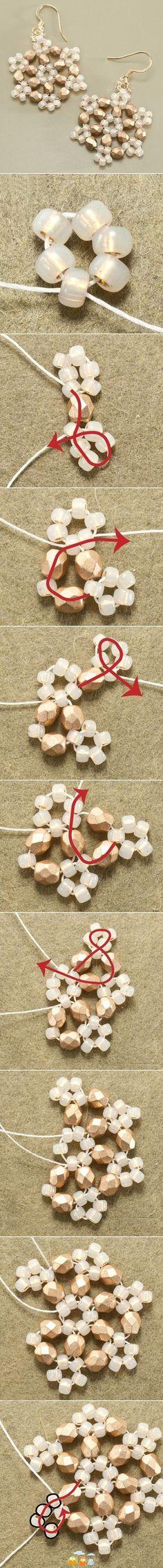Orecchini a fiore di perline