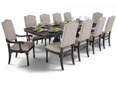 My Bristol 11 Piece Dining Set is gorgeous AND guilt-free! You'll get the look for less with this stylish dining set loaded with high end details. The sizab Glass Dining Room Table, Dining Room Sets, Dining Room Design, Bedroom Furniture Sets, Dining Room Furniture, Dining Chair Cushions, Küchen Design, Design Ideas, Discount Furniture