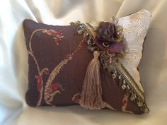 Luxurious Decorator Throw Pillow by SleighHouseOriginals, These are my handcrafted pillows that feature luxurious textured fabric, elegantly designed with coordinating trims that add the perfect finishing touch. Look for my future posting when my website goes on line. Item BY-P2020 $50.00
