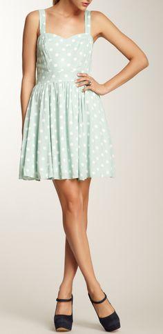 Mint dot dress