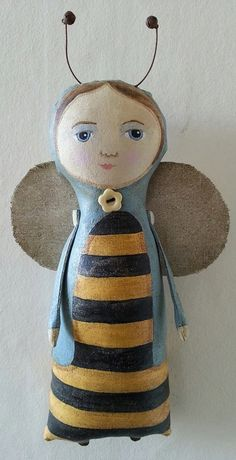 Queen Bee art doll, bee, fairytale doll, art doll.