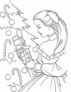 BARBIE COLORING PAGES: BARBIE CHRISTMAS COLORING PICTURE