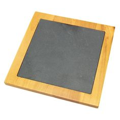 Creative Home Pine Wood with Slate Insert Square Trivet - 73464