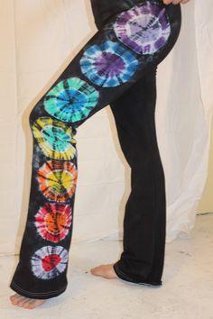 Yoga Pants by EvolutionaryTieDye on Etsy, $57.00