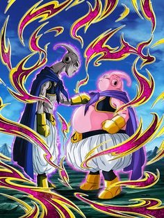 Majin Boo, Cristiano, Dragon Ball Z, Battle, Pure Products, Anime, Cards, Justice League, Painting
