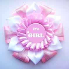 Personalizada marco Baby Shower rosa cinta ramillete roseta