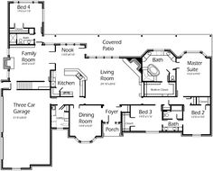 House Plans by Korel Home Designs I really like this minus the 3rd car and 4th bd room