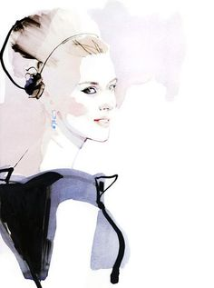 Watercolor Fashion Illustration david | Fashion Illustrations by David Downton