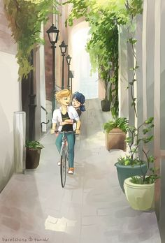 (Miraculous: Tales of Ladybug and Cat Noir) Adrien Agreste/Marinette Dupain-Cheng
