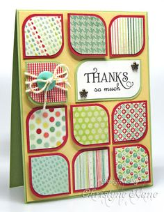 Thanks So Much card from Stampin' with Sugar