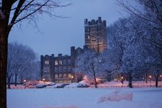 The 50 Most Beautiful Colleges in Winter - Best College Values Mike Young, Fordham University, College Fun, Future Goals, Time Of The Year, Willis Tower, Wonderful Time, New York City, Most Beautiful