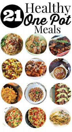 21 Healthy One Pot Meals #cooking #healthy #quick