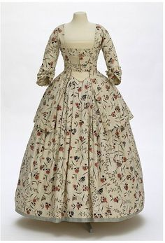 c.1770 V and A. Printed cotton.