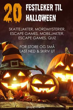 20 party games for Halloween- 20 Partyspiele für Halloween Treasure Hunts, Murder Puzzles, Exit Games, and GPS Hunts Over 20 fun Halloween party games – from real classics to fun motto games. Fete Halloween, Halloween Party Games, Halloween Baking, Halloween Crafts For Kids, Halloween Snacks, Diy Halloween Decorations, Halloween 2019, Halloween Cupcakes, Scary Halloween