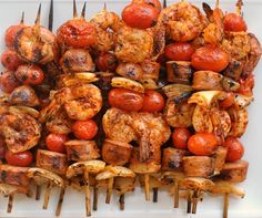 GRILLED SHRIMP AND SAUSAGE SKEWERS WITH SMOKY PAPRIKA GLAZE + WEEKLY ...