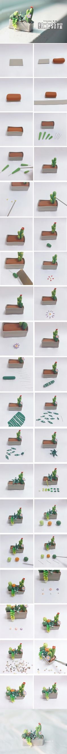 mini cactus plant for your dolls (click picture to see more instructions)
