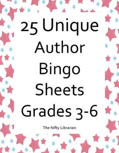 Author Bingo!  Fun activity for a reward, last days of school, last days before Christmas, etc.  Great for the library, regular elementary classroom.  Fun!