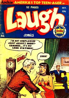 A cover gallery for the comic book Laugh Comics Archie Comics Characters, Archie Comic Books, Old Comic Books, Best Comic Books, Comic Book Artists, Comic Book Covers, Old Comics, Vintage Comics, Archie Comics Riverdale