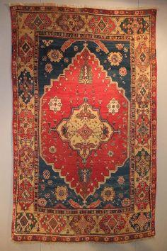 18th century Konya rug. Exhibitor Mirco Cattai. More rugs – Sartirana Textile Show 2013