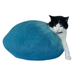 Natural Felted Wool Hand Crafted Cat Bed / Cat House. Beautiful Design, Durable and Strong Chemical Free Cat Cave. Perfect for Cats with Allergies or Sensitivities. No Seam, Modern Attractive Design. Woolly Mammoth and Kitty http://www.amazon.com/dp/B00WTM64C0/ref=cm_sw_r_pi_dp_VVfOwb134ZH4P
