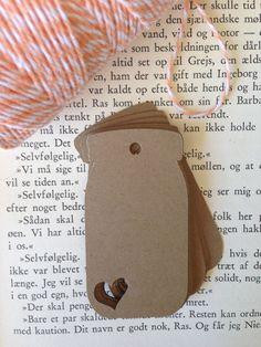 Mason Jar mini tags with heart die cut by StuckOnACloud on Etsy