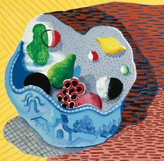 David Hockney - Fruit in a Chinese Bowl - 1988 / #art