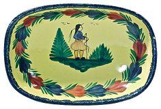 Antique Hand-Painted Quimper Dish on OneKingsLane.com