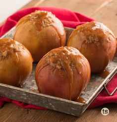 Stuffed Baked Apples Recipe │Sweet and caramel goodness inside of a baked apple.