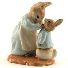 Beswick Beatrix Potter Figure, Mrs. Rabbit and Peter, Royal Albert