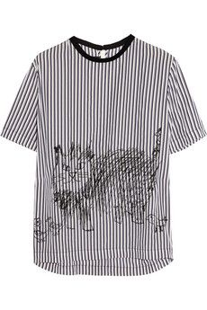 Marni Striped cat-print shell top  | THE OUTNET