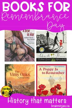 Check out these books you can use to help your students learn about Remembrance Day in Canada. Remembrance Day Pictures, Remembrance Day Activities, Remembrance Day Art, Veterans Day Activities, Homeschool Kindergarten, Homeschooling, Wordless Picture Books, Teacher Tools, Teacher Resources