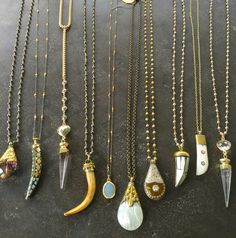 One of a kind necklaces. Email lisajilljewelry@gmail.com $68-$148
