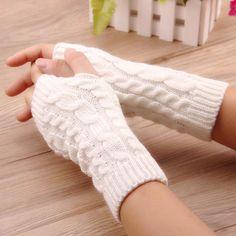 "Universe of goods - Buy ""High Quality Women Gloves Stylish Hand Warmer Winter Gloves Women Arm Crochet Knitting Faux Wool Mitten Warm Fingerless Gloves"" for only USD. Wool Gloves, Fingerless Gloves Knitted, Knit Mittens, Leather Gloves, Hand Warmer Gloves, Hand Gloves, Arm Crocheting, Minimizer Bh, Warmest Winter Gloves"